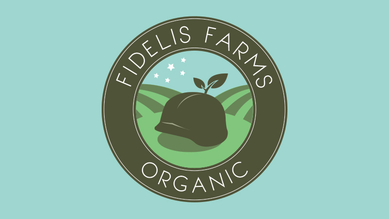 fidelis farms, logo, a creative feeling